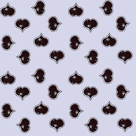Love background. Background of big and small hearts with swirls in neutral, brown and gray colors. Vector illustration. Seamless Love pattern.