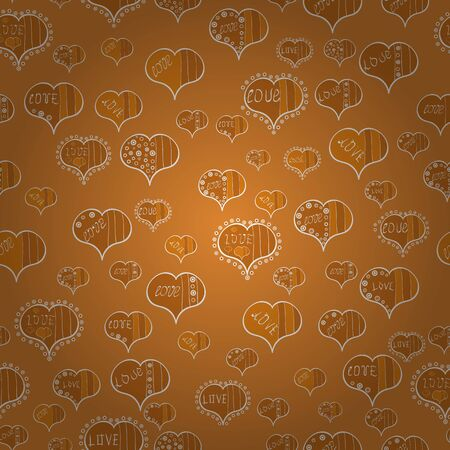 Valentine heart love seamless pattern with heart. Seamless vector love background. Heart pattern.