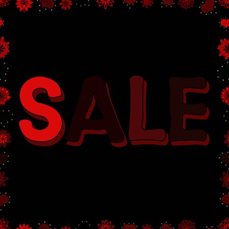 End of season special offer banner. Sale banner template design, Big sale special offer. Illustration in red, brown and black colors. Seamless pattern. Vector illustration. Stock fotó - 129810890