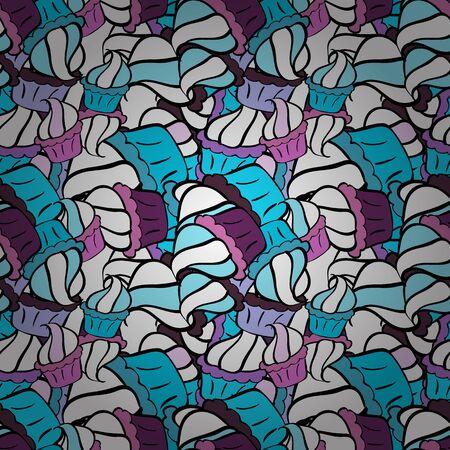 Vector illustration. Seamless pattern. Abstract motif background. Ultrafashionable fabric pattern.