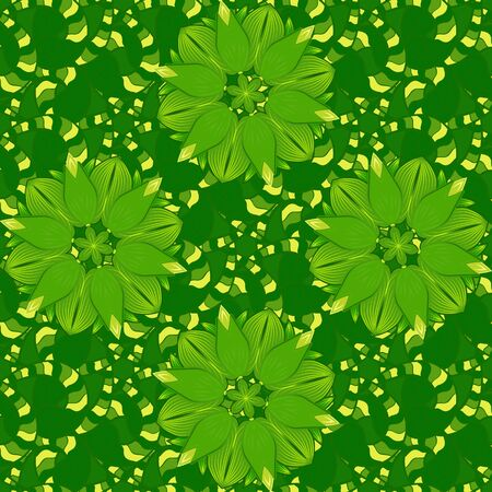 Floral pattern with flowers and leaves. Cute pattern with small flowers. Vector illustration.