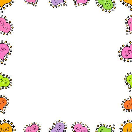 Blank black, white, pink square cadre rectangle label elegant sketches painted by hands scribble border. Vintage doodle sketch picture frame doodle labels. Vector. Seamless pattern. Hand drawn frames.