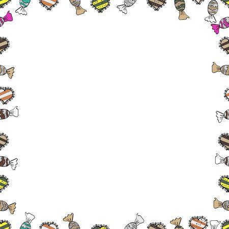 Vintage doodle sketch picture frame doodle labels. Hand drawn frames. Blank white, beige and black square cadre rectangle label elegant sketches painted by hands scribble border.