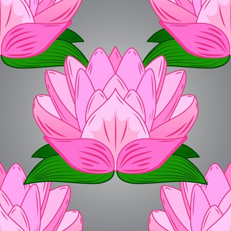 Flowers on pink, neutral and gray colors. Vector floral pattern in doodle style with flowers. Gentle, tender floral background. Illustration