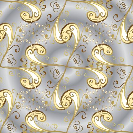 Nice background. Vector illustration. Seamless Cute fabric pattern. Abstract doodles pattern. - stock. Beige and gray on colors. Illustration