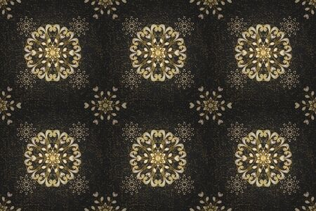 Wallpaper baroque, damask. Raster background. Graphic modern pattern. Pattern floral pattern.