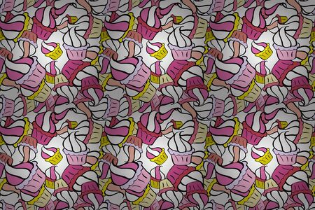 Raster abstract pattern page for antistress. Raster illustration. On pink, black and white colors. Can be used for cards, invitations, save the date cards and many more.
