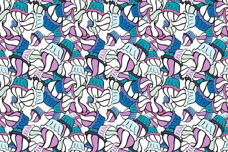 Raster - stock. Nice background. It can be used on wallpaper, mug prints, baby apparels, wrapping boxes etc. Seamless Beautiful fabric pattern. Doodles cute pattern. Neutral, white and black on colors