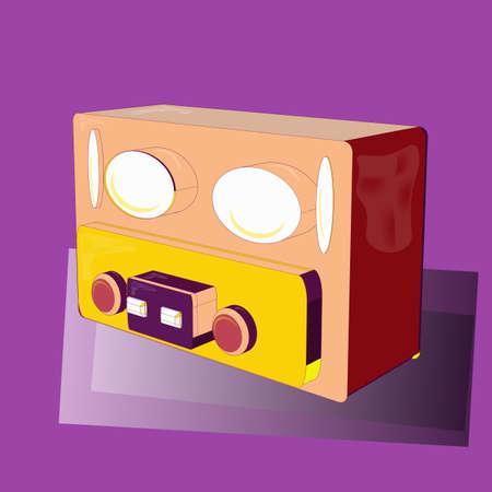 audio, radio illustration Ilustrace