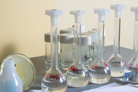 reagents: Chemical, reagents, laboratory, experiments, Stock Photo