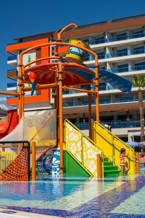 Turkey. Antalya. 20 September 2016. Waterpark. The hotel area.