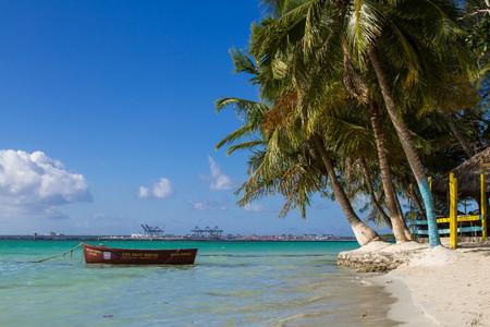 subtropical: January 9, 2017. The Dominican Republic. Coast. Caribbean Sea.
