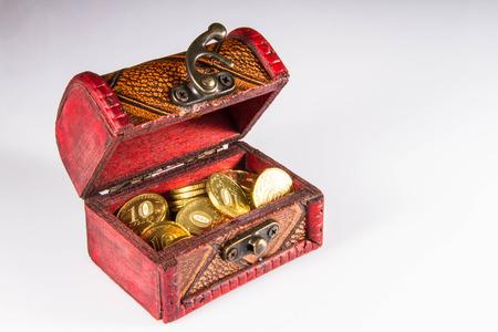 Money, chest, treasure, credit, business
