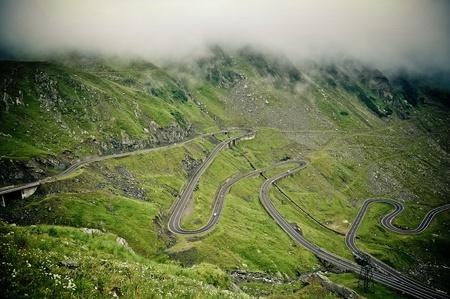 transfagarasan: A beautiful landscape with the Transfagarasan road
