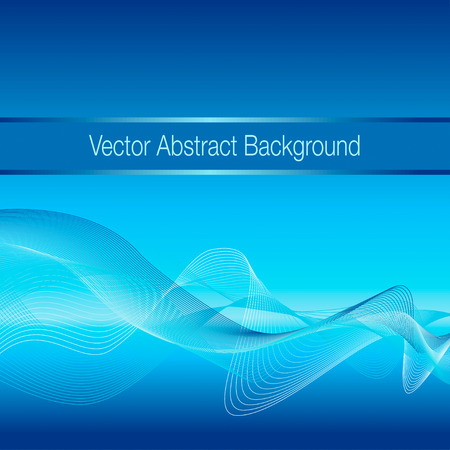 res: Abstract blue wave background. Vector illustration, EPS10. Hihg res jpg included.