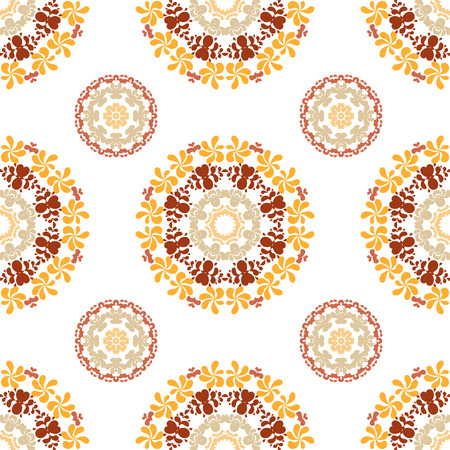 res: Ornate seamless floral pattern, decorative vector wallpaper on white background. Vector illustration, EPS10, high res jpg included. Illustration