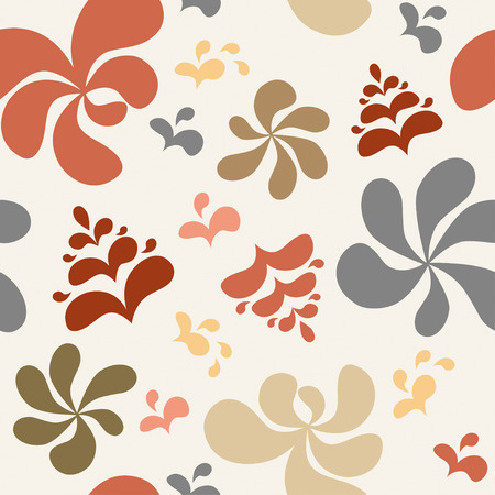 res: Abstract colorful floral background, seamless pattern. Vector illustration, EPS8. Hihg res jpg included. Illustration