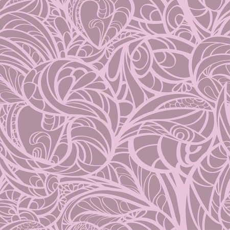 res: Pink hand drawn zentangle floral seamless. EPS 8 vector illustration. High res jpg included.
