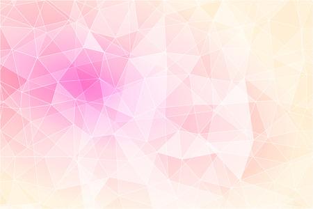 三角ポリゴンと幾何学的なピンクの背景を抽象化、低ポリ イラスト