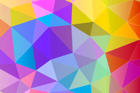 Abstract multicolor geometric background with triangular polygons, low poly style illustration