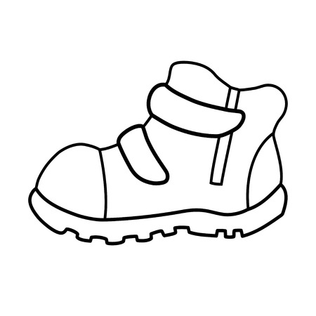 Hand drawn pair of kids shoes. It can be used for decorating of invitations, greeting cards, decoration for bags, t-shirt