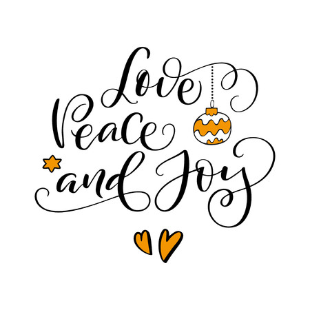 Love, peace and joy banner.