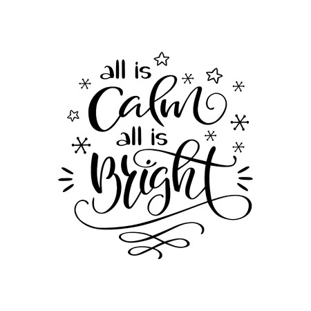 All is calm, all is bright banner. Illustration
