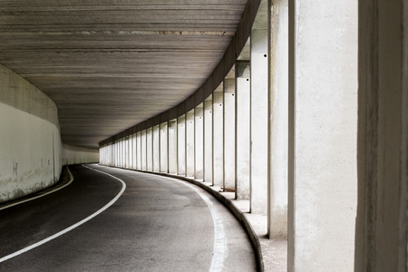 sided: Open sided road tunnel