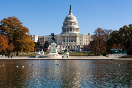 The photo shows the Capitol in Washington, DC