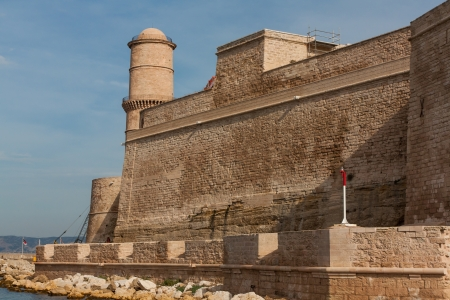 The photo shows the fortress in Marseille Stock Photo