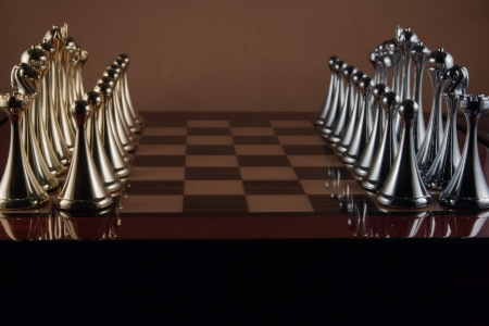 The photo shows the chessboard