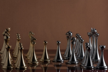 The photo shows the chess party  Stock Photo