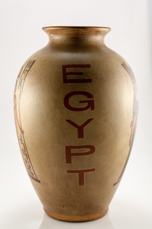 The photo shows the vase with inscription Egypt.