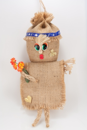 The photo shows the rag doll funny girl  Stock Photo