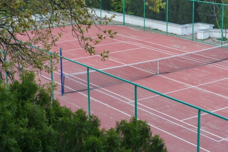 The photo shows the playground for tennis  Stock Photo