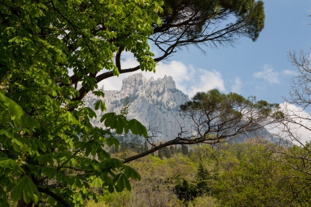 The photo shows the mountains in Yalta  Stock Photo