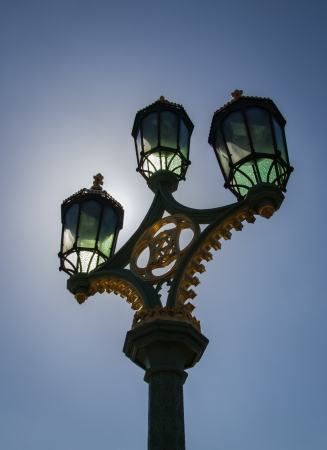The photo shows the street light.