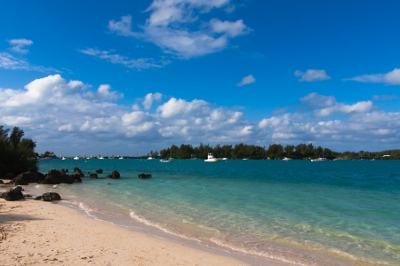 The photo shows the Grotto Bay in Bermuda. Stock Photo