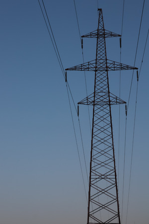The photo shows the support power lines