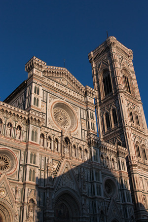 The photo show the Cathedral Saint Mary of the Flower in Florence. Stock Photo