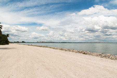 Photo shows the beach on Sanibel Island Park B.