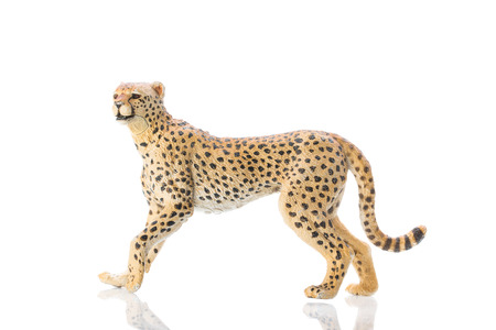 Photo shows the toy cheetah on white.
