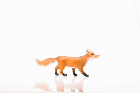 Photo shows the toy fox on white.