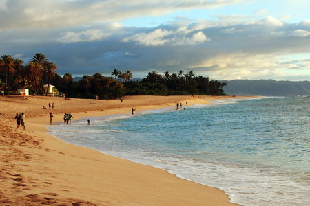 """SUNSET BEACH, OAHU, HAWAII / UNITED STATES ? ? """"CIRCA JULY, 2010: View of the beach at sunset. Sunset Beach is located at the north shore of Oahu and the best place to watch sunset in the island"""