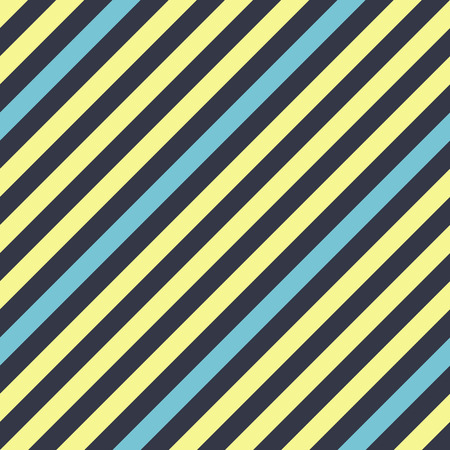 striated: Seamless geometric pattern. Stripy texture for neck tie. Diagonal contrast strips on background. Contrast cold blue, yellow colors. Vector