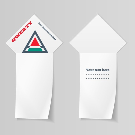 clerical: Paper vertical banners. Triangular  Labels for your text. Ribbon, arrow view. Stationery. Vector isolated.