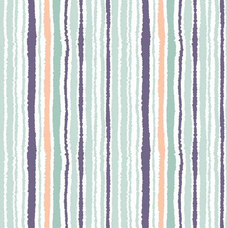 wrinkly: Seamless strip pattern. Vertical lines with torn paper effect. Shred edge background. Light and dark gray, olive, turquoise colors on white. Vector