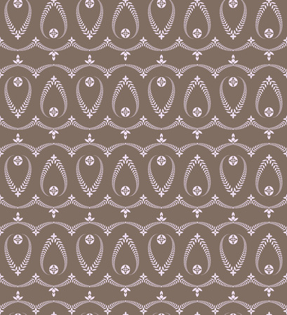 solemn: Seamless laurel wreath pattern of cross ornament. Lace view texture. Ceremonial, religious background. Gray colored. Vector