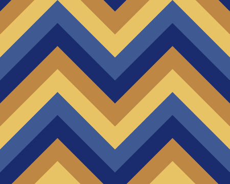 brindled: Seamless geometric strip pattern. Stripy texture. Zig-zag line background. Diagonal strips. Blue, yellow contrast colors. Winter theme. Vector