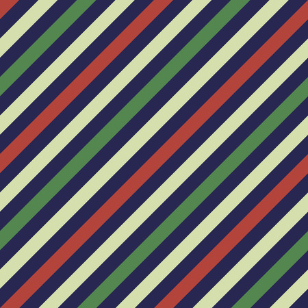 striated: Seamless geometric pattern. Stripy texture for neck tie. Diagonal contrast strips on background. Contrast dark blue, red, green colors. Vector